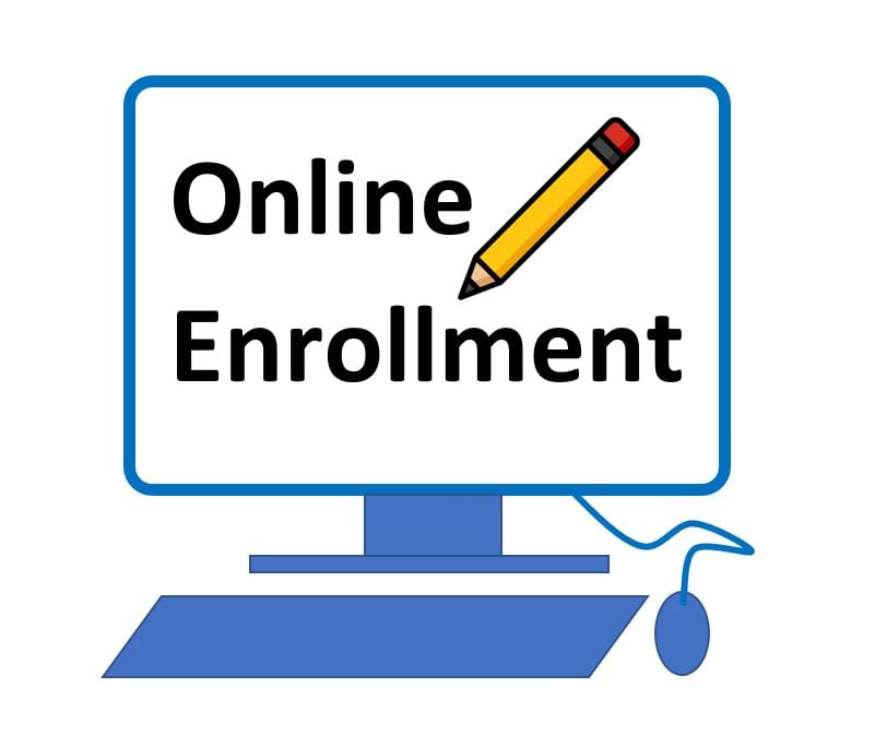 Online enrollment icon